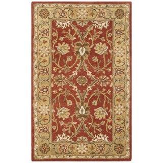 Safavieh Handmade Kerman Rust/ Gold Wool Rug (3' x 5')