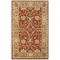 Handmade Kerman Rust/ Gold Wool Rug (4' x 6')