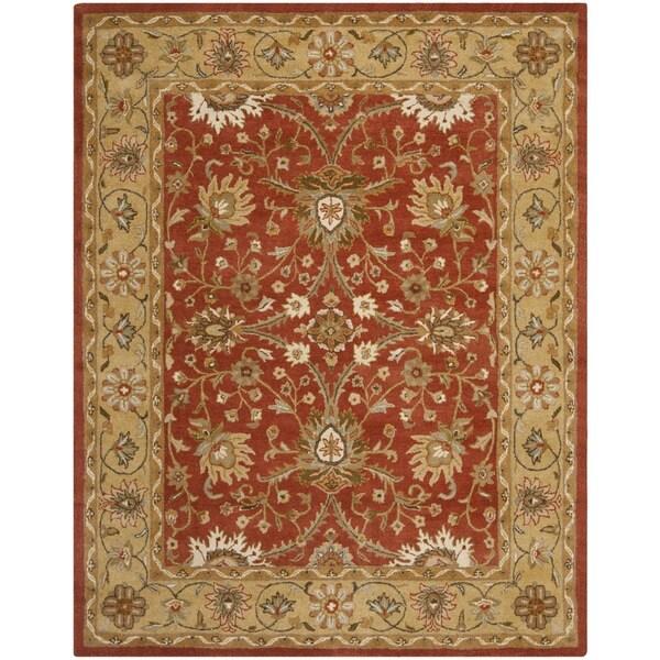 Safavieh Handmade Kerman Rust/ Gold Wool Rug (5' x 8')