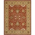 Safavieh Handmade Kerman Rust/ Gold Wool Rug (7'6 x 9'6)