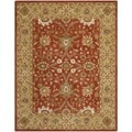 Handmade Kerman Rust/ Gold Wool Rug (7'6 x 9'6)