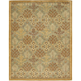 Safavieh Handmade Antiquities Light Blue/ Gold Wool Rug (9' x 12')