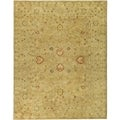 Handmade Majesty Light Brown/ Beige Wool Rug (8' x 10')