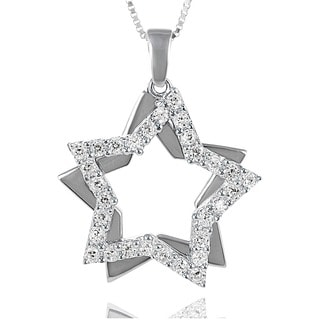 Journee Collection Sterling Silver Cubic Zirconia Star Necklace