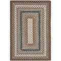 Hand-woven Reversible Brown Braided Rug (2'6 x 5')