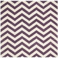 Safavieh Handmade Moroccan Chatham Chevron Purple Wool Rug (5' Square)