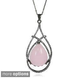 Tressa Collection Sterling Silver Created Stone and CZ Necklace
