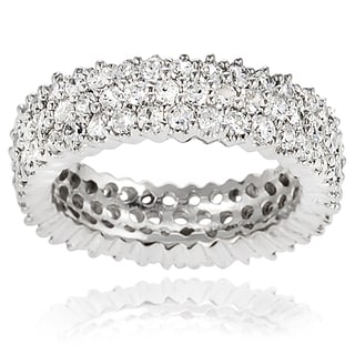Tressa Collection Sterling Silver Cubic Zirconia Band-style Ring