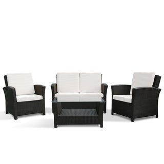 Rimini by Beliani Resin Wicker Patio Sofa Set