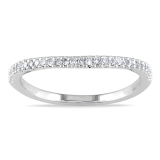 Miadora 14k White Gold 1/6ct TDW Diamond Wedding Ring (G-H, I1-I2)