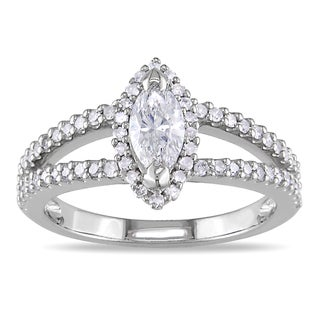 Miadora 14k White Gold 4/5ct TDW Diamond Engagement Ring (G-H, I1-I2)