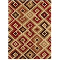 Woven Contemporary Pereira Multi Coloredcolor Geometric Shag Rug (2' x 3')