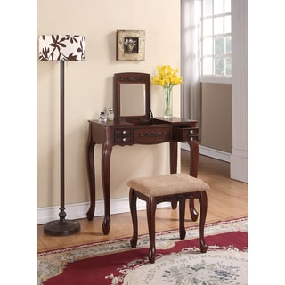 Vanity Stool  Bathroom on Antique Oak Vanity With Stool   Overstock Com Shopping   The Best