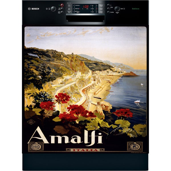 Appliance Art Vintage Amalfi Coast Dishwasher Cover