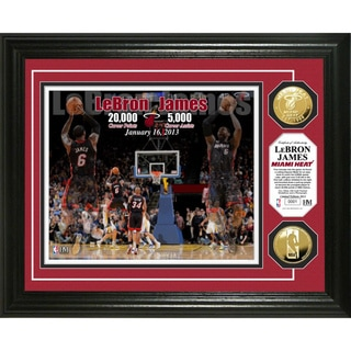 LeBron James '20,000 points/ 5,000 assists' Gold Coin Photomint