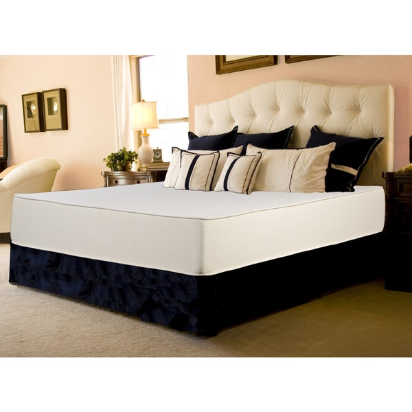 Select Luxury Flippable Medium Firm 10-inch King-size Foam Mattress with EZ Fit Foundation