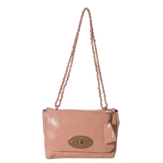 Mulberry 'Lily' Pink Patent Leather Shoulder Bag