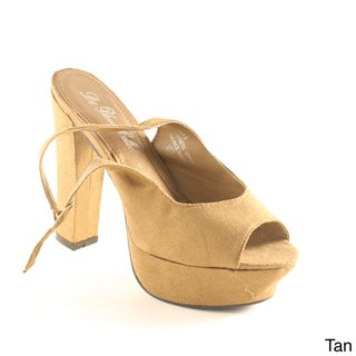 Blossom Women's 'Ella-3' Slingback Chunky Heel Sandals