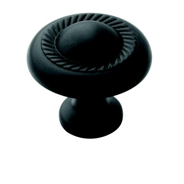 Amerock Decorative 1.25-Inch Flat Black Cabinet Knob (Pack of 5)