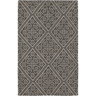 Beth Lacefield Hand-woven Agosto Flatweave Reversible Pewter Wool Rug (8' x 11')