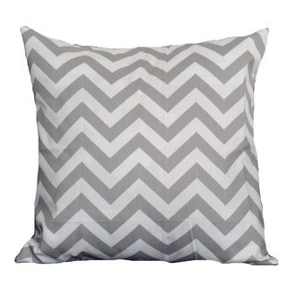 Gray and White Chevron Zig Zag Throw Pillow Cover