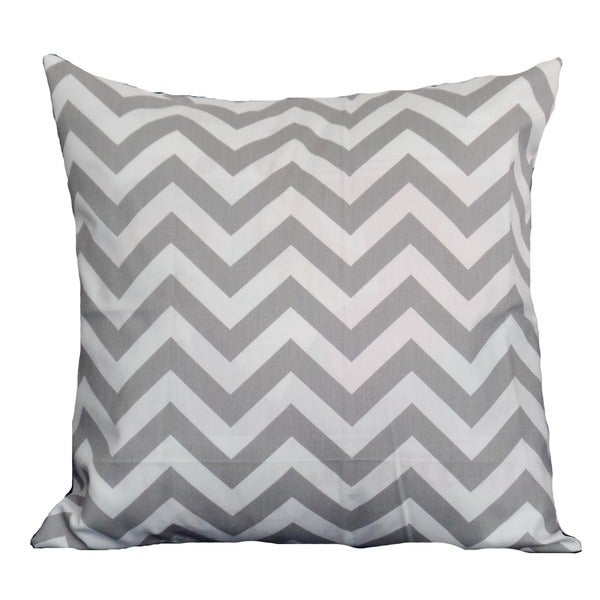 Taylor Marie Grey Chevron 18-inch Pillow Cover