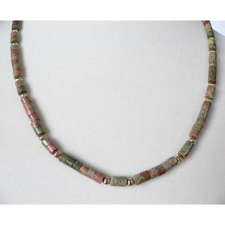 "Men's 20"" 'Juarez' Unakite Necklace"