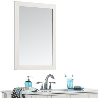WYNDENHALL Salem 22 x 30 White Bath Vanity Decor Mirror