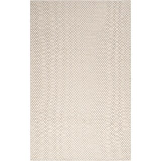 Hand-woven Casual Padres Beige Solid Wool Rug (8' x 11')