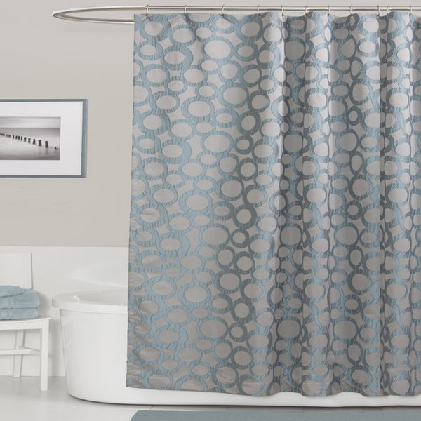 gallery for gray and blue shower curtain