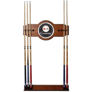 GM Corvette Wood and Mirror 2-piece Cue Rack