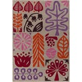 Hand-tufted Novelty Bengals Multi Floral Wool Rug (8' x 11')