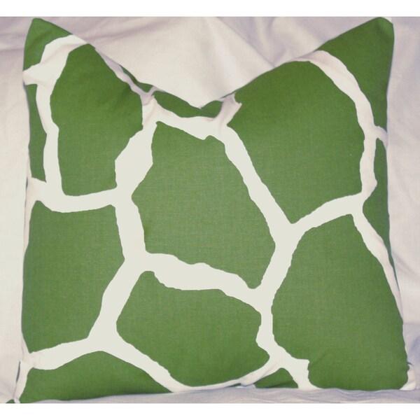 Taylor Marie Studio Reese Green Giraffe Throw Pillow Cover