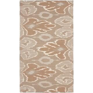 Beth Lacefield Hand-woven Aeneas Flatweave Reversible Brindle Wool Rug (8' x 11')