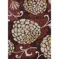 Hand-tufted Jackson Wine Wool Rug (7'10 x 11'0)