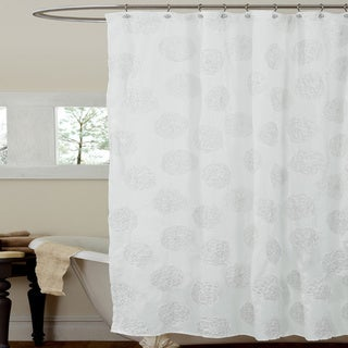 Lush Decor Samantha Ivory Shower Curtain