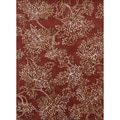 Hand-tufted Jackson Red Wool Rug (5'0 x 7'6)