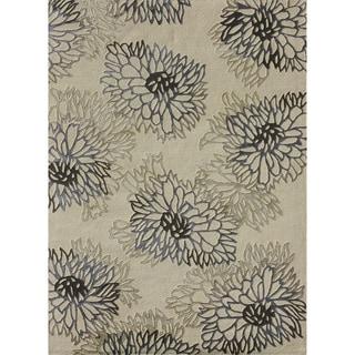 Hand-tufted Jackson Ivory Wool Rug (3'6 x 5'6)
