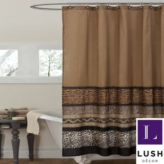 Lush Decor Tribal Dance Brown Shower Curtain