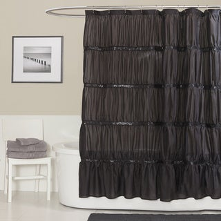 Lush Decor Twinkle Black Shower Curtain