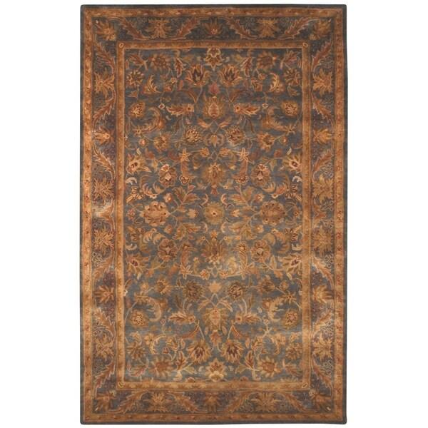 Safavieh Handmade Exquisite Blue/ Gold Wool Rug (11' x 16')