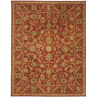 Handmade Heirloom Red Wool Rug (12' x 15')