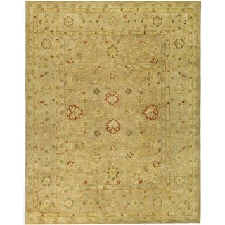 Handmade Majesty Light Brown/ Beige Wool Rug (11' x 15')