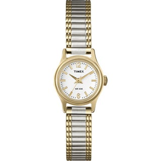 Timex Women's T53822 Elevated Classics Dress Two-Tone Stainless Steel Expansion Band Watch