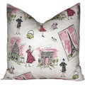 Taylor Marie Tres Chic Girly Girl Paris Pillow Cover