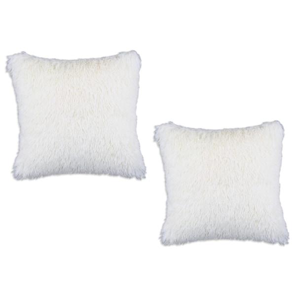 Shaggy Sands 17-inch Throw Pillows (Set of 2)