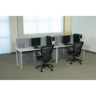 Office Star Box Office Bench Style Four Desk Cubicle