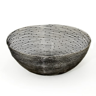 Red Vanilla 'Orbit' Black Iron Centerpiece Bowl