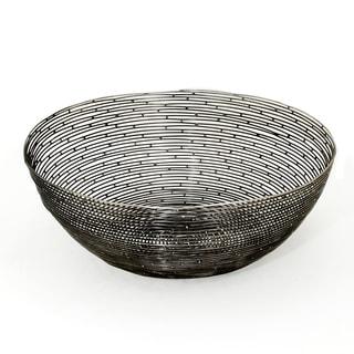 Red Vanilla 'Orbit' Black Iron Centerpiece Bowl
