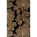 Hand-tufted Mosquera Black Floral New Zealand Wool Rug (3'3 x 5'3)